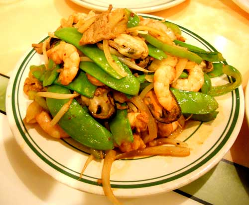 Mongolian Grill - Veggies or course - Mussels - Shrimp and some pork to top it all off