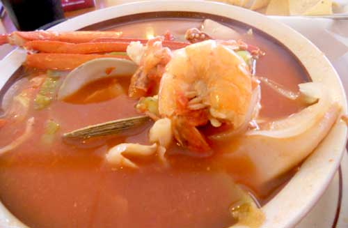 Casa Sanchez Mexican Restaurant - 7 Seas Soup - Siete Mares - Fresh Shrimp