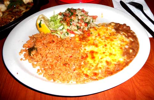 Casa Sanchez Mexican Restaurant - Pico De Gallo - Rice and Beans